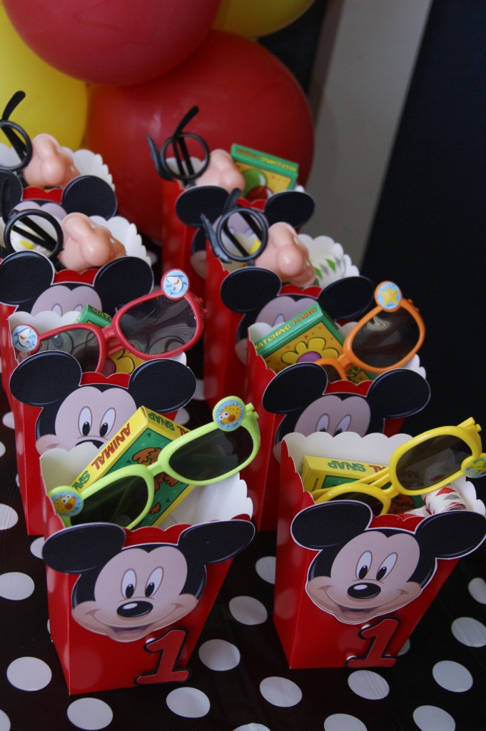Mickey Popcorn boxes Favour bags