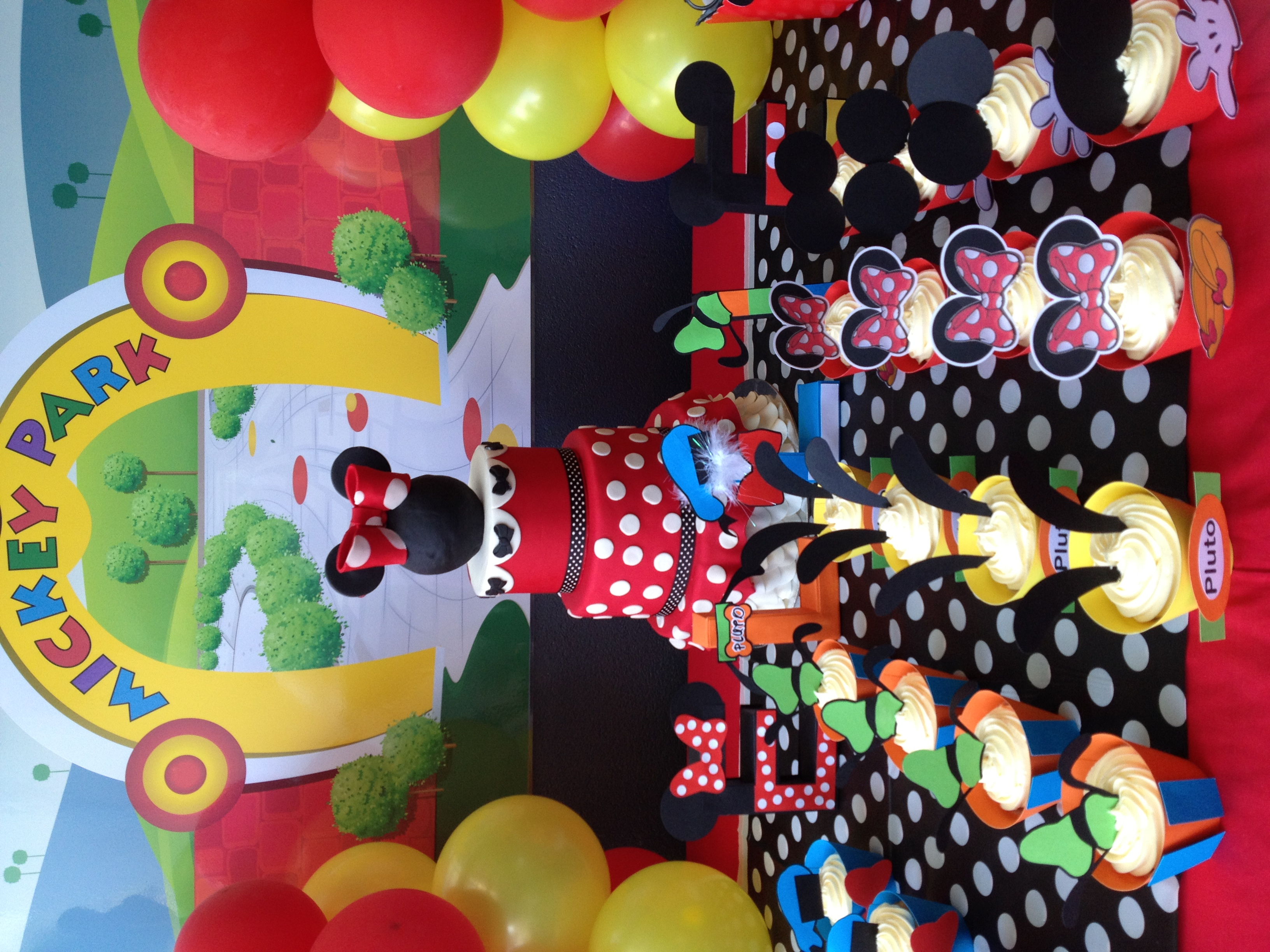 IMG 3672 Mickey Mouse Clubhouse Cupcake Party Setup