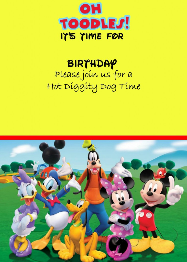 how to make a mickey mouse digital invitation  with free