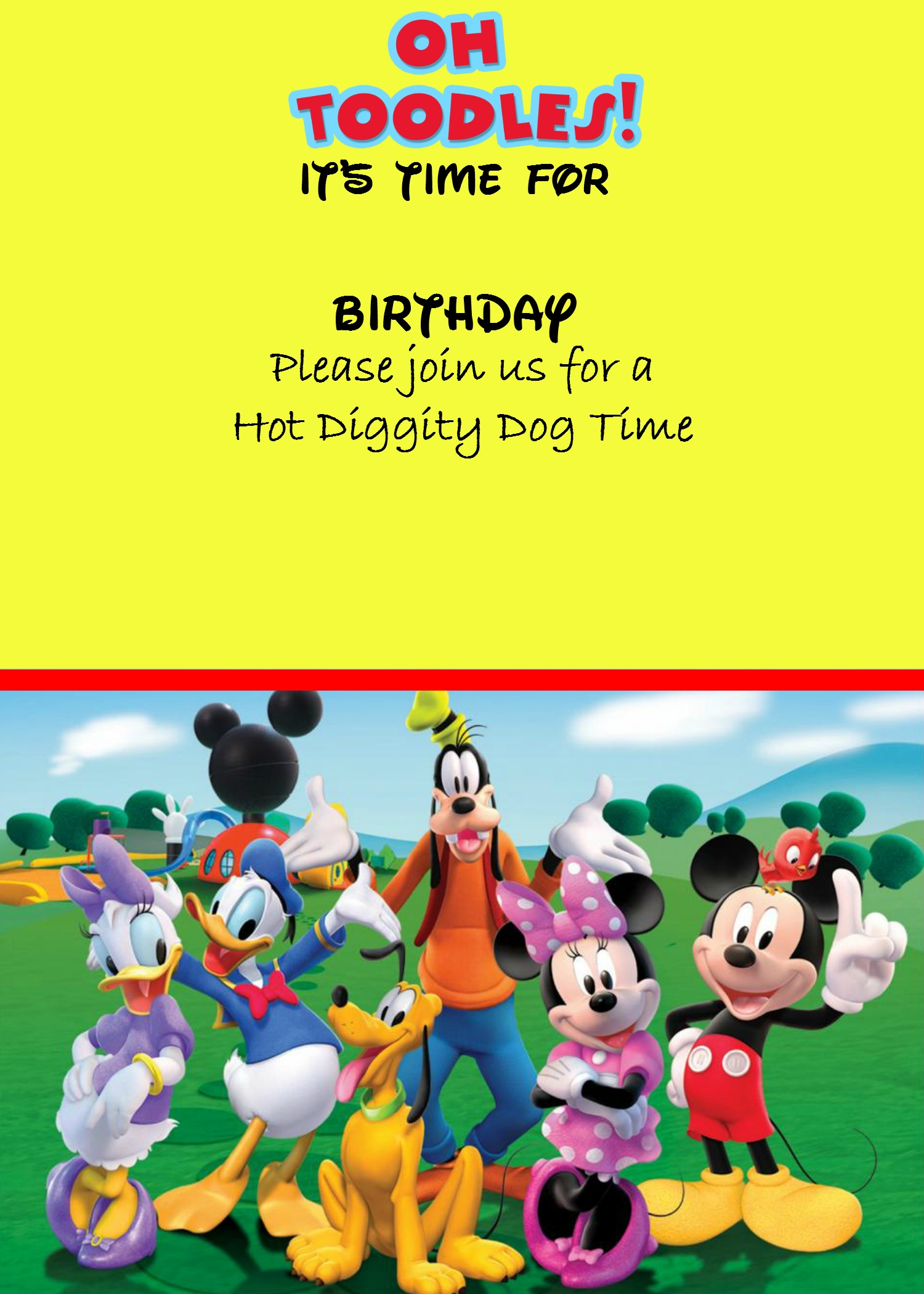 How to make a Mickey Mouse digital invitation (with free image
