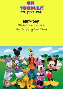 How to make a Mickey mouse digital invitation with Picmonkey option1