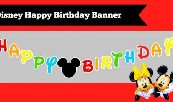 How to make a DIY Mickey Mouse Clubhouse Inspired Happy Birthday Banner with FREE Template at home