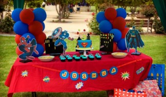 DIY Superhero Birthday Party:  Batman, Spiderman, Captain America