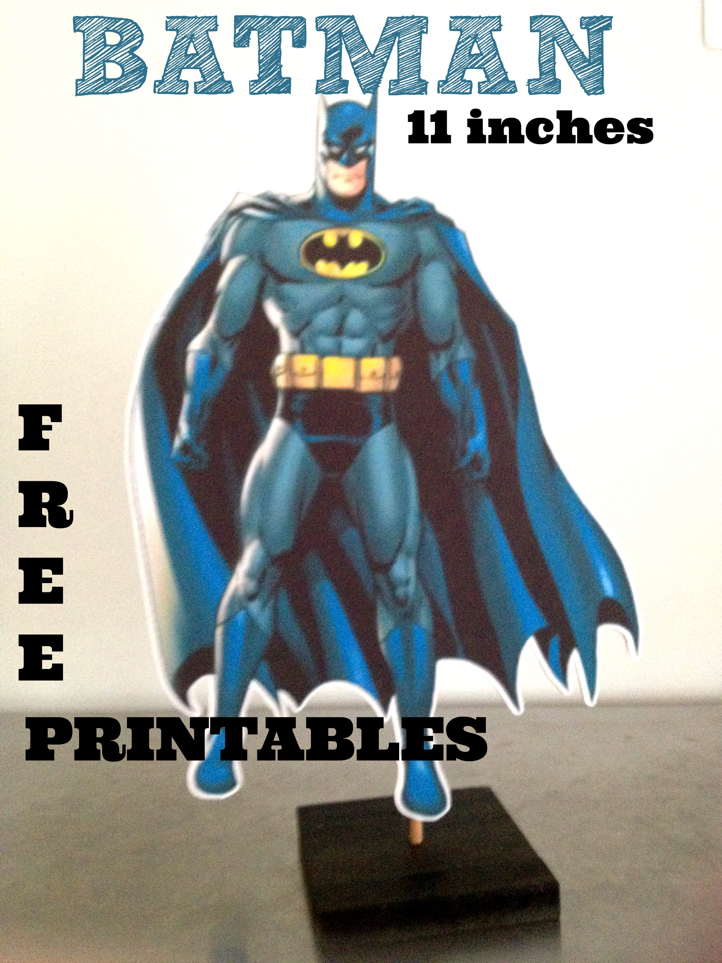 How To Make Batman Birthday Party Decoration Centrepiece, Plus FREE  Printables
