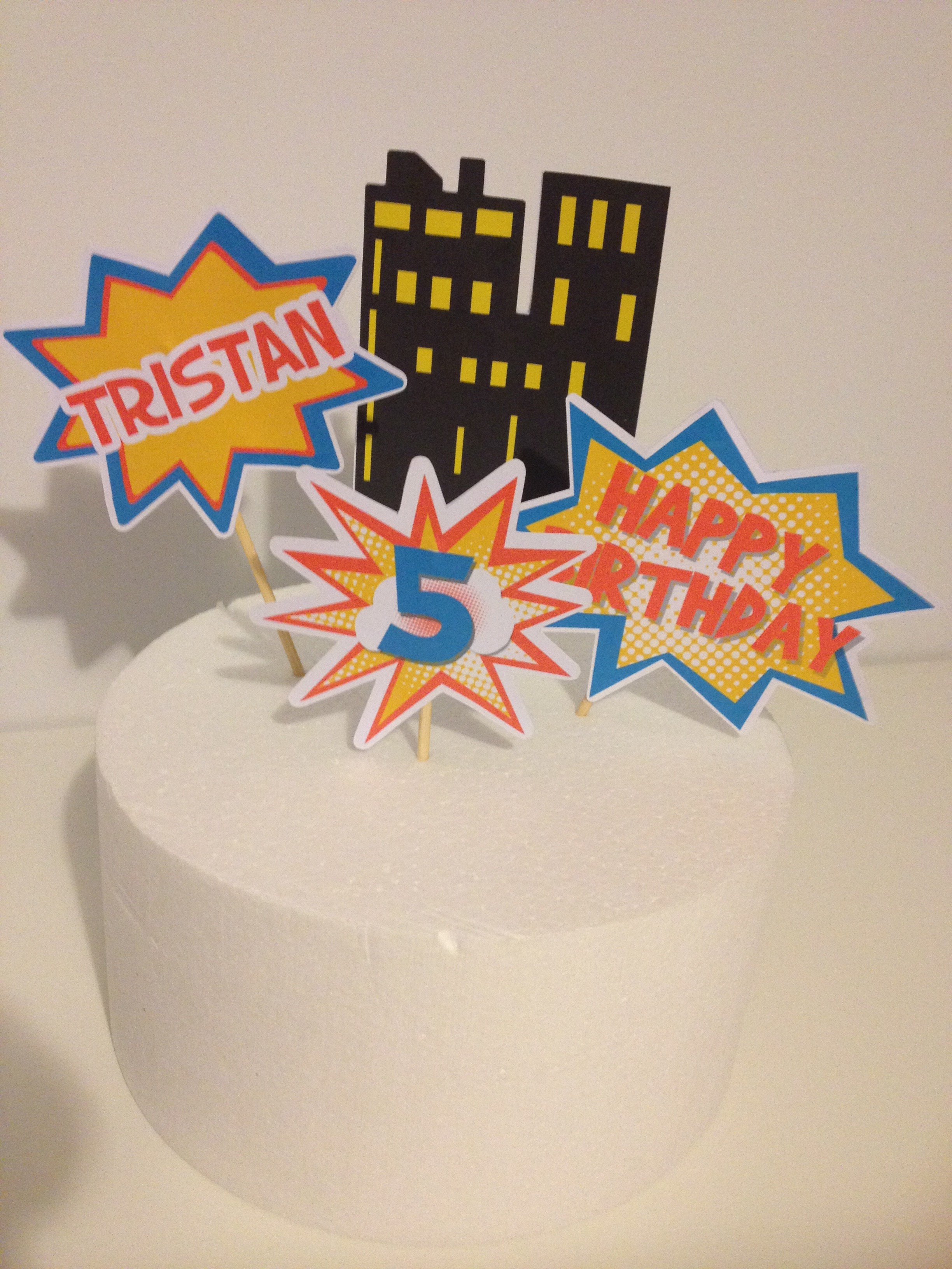 photo about Superhero Cupcake Toppers Printable identified as How in direction of crank out Superhero Cake Toppers with No cost printables