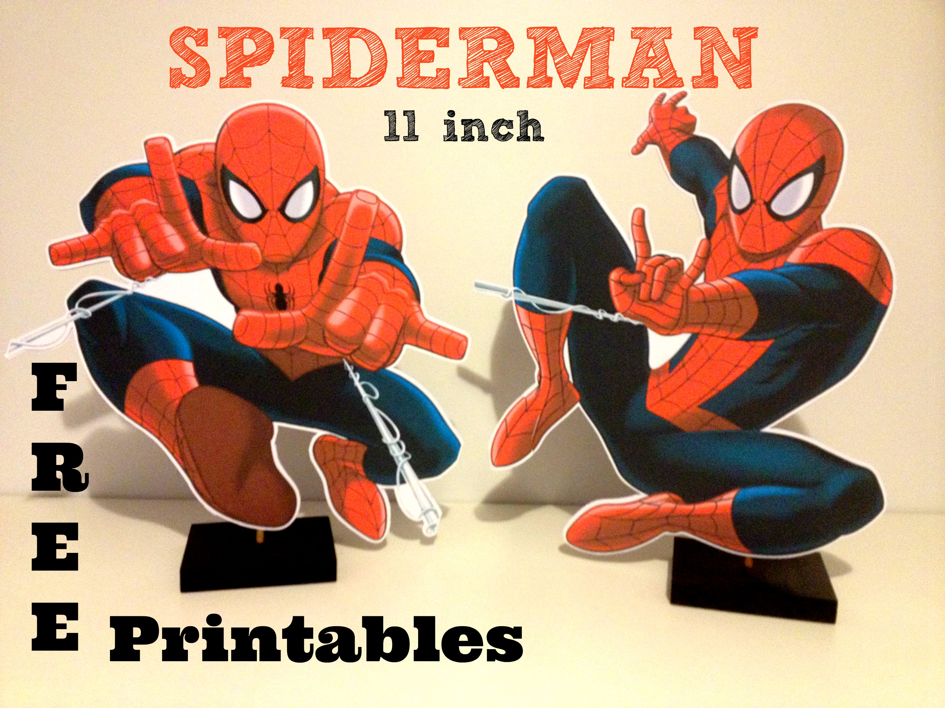 How to make free spiderman centerpiece printable plus diy for Spiderman decorations