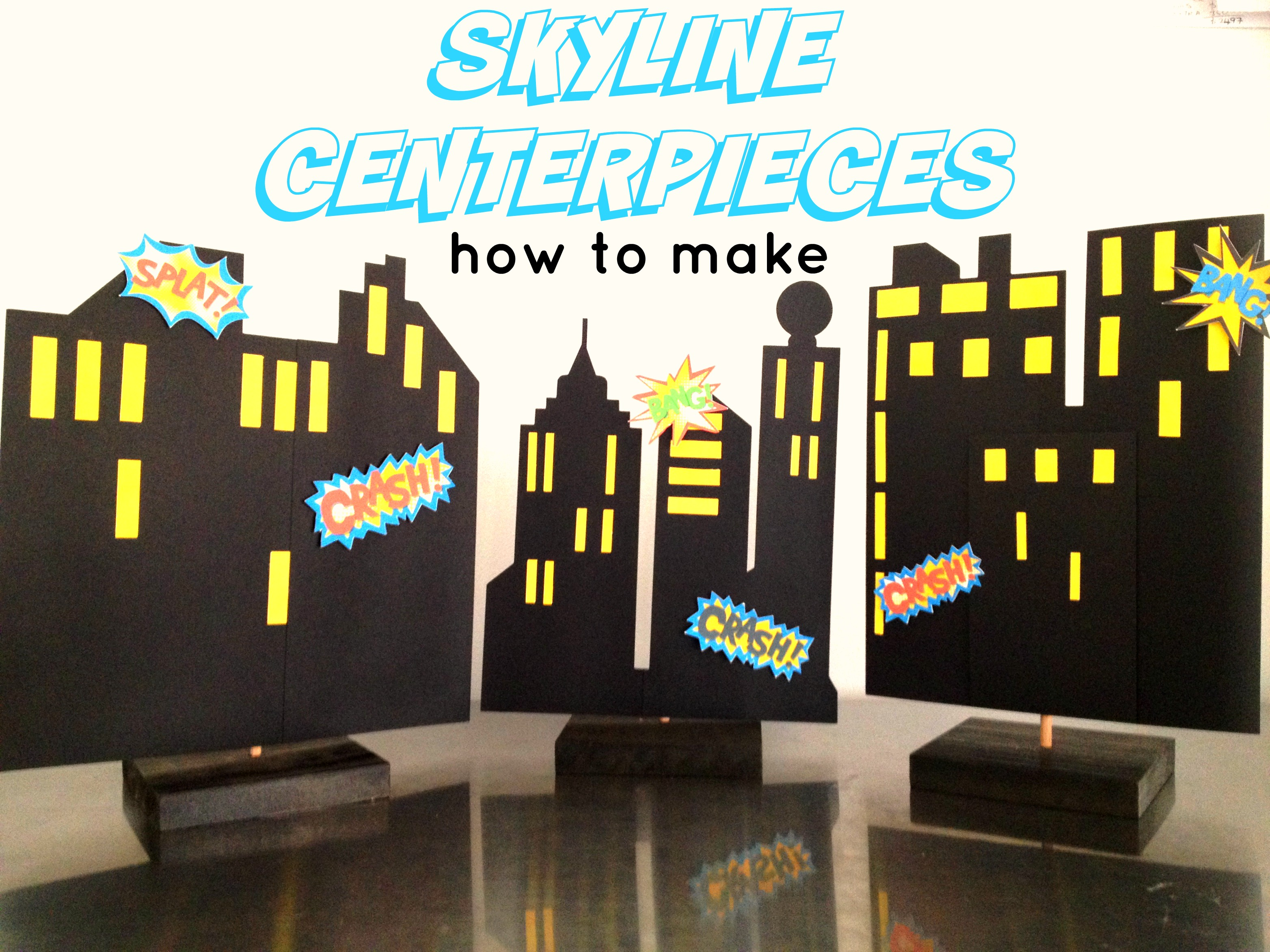 Skyline centerpiece how to make youtube