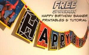 SUPERHERO SPIDERMAN HAPPY BIRTHDAY BANNER