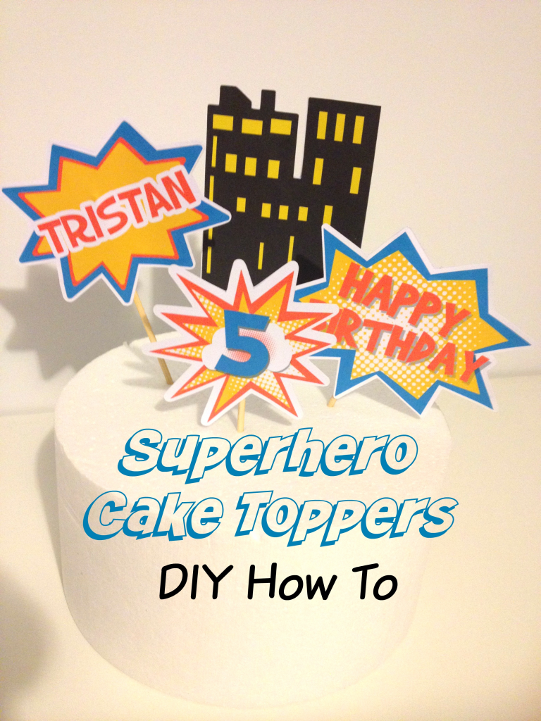 Superhero Cake Topper How to Youtube