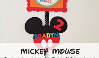 How to make a Mickey Mouse Inspired Party Door Sign with FREE Printables