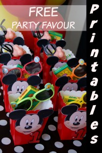 Mickey Mouse Party Favour Box tutorial & free printable