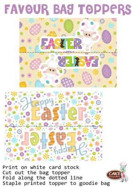 Free easter Favour bags printables