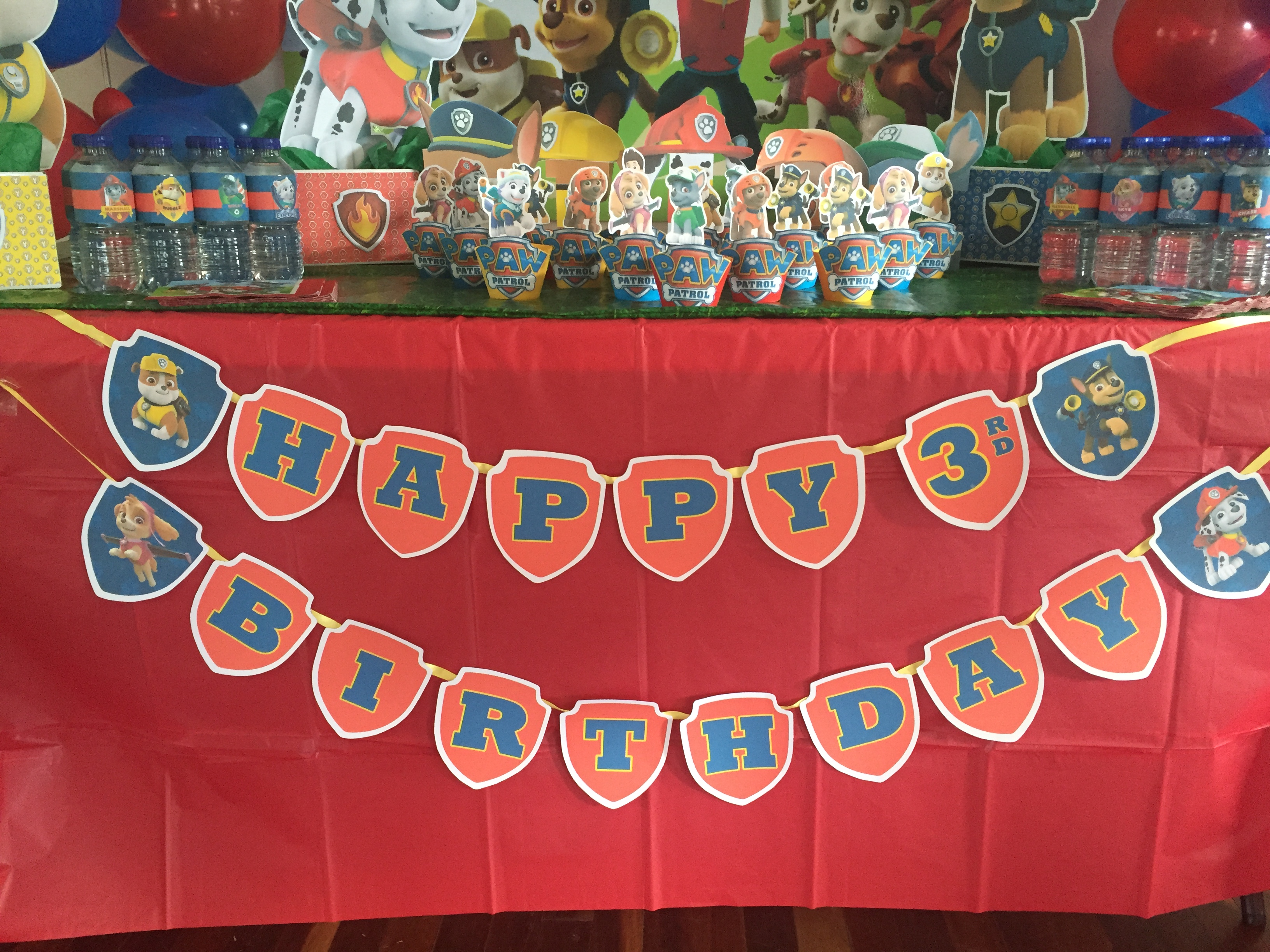 Paw Patrol Happy birthday banner tutorial