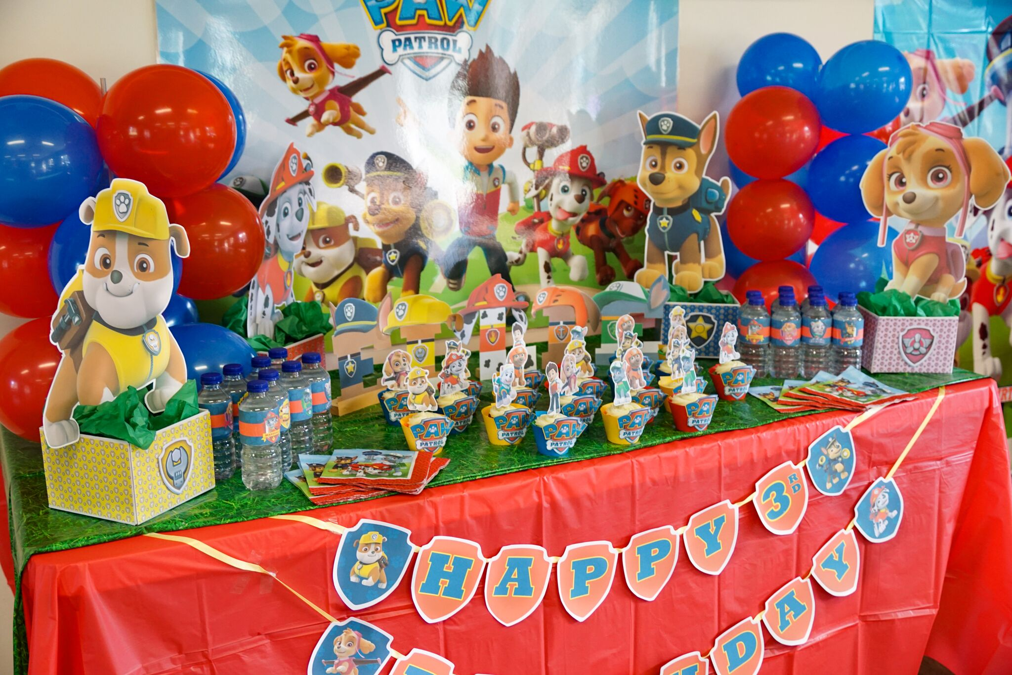 Happy Birthday banner Paw Patrol theme