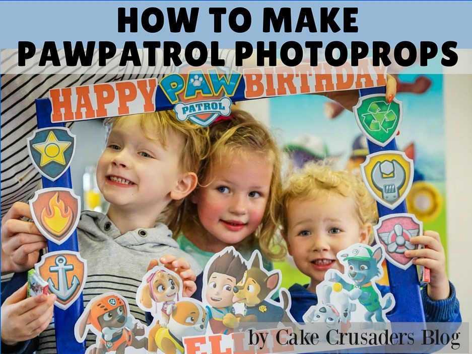 How to MAKE PAWPATROL photo frame props