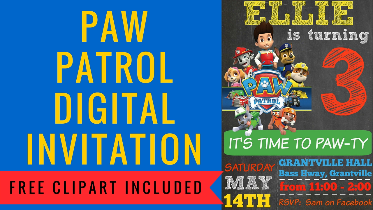 How to make a Paw Patrol Digital Invitation | includes ...