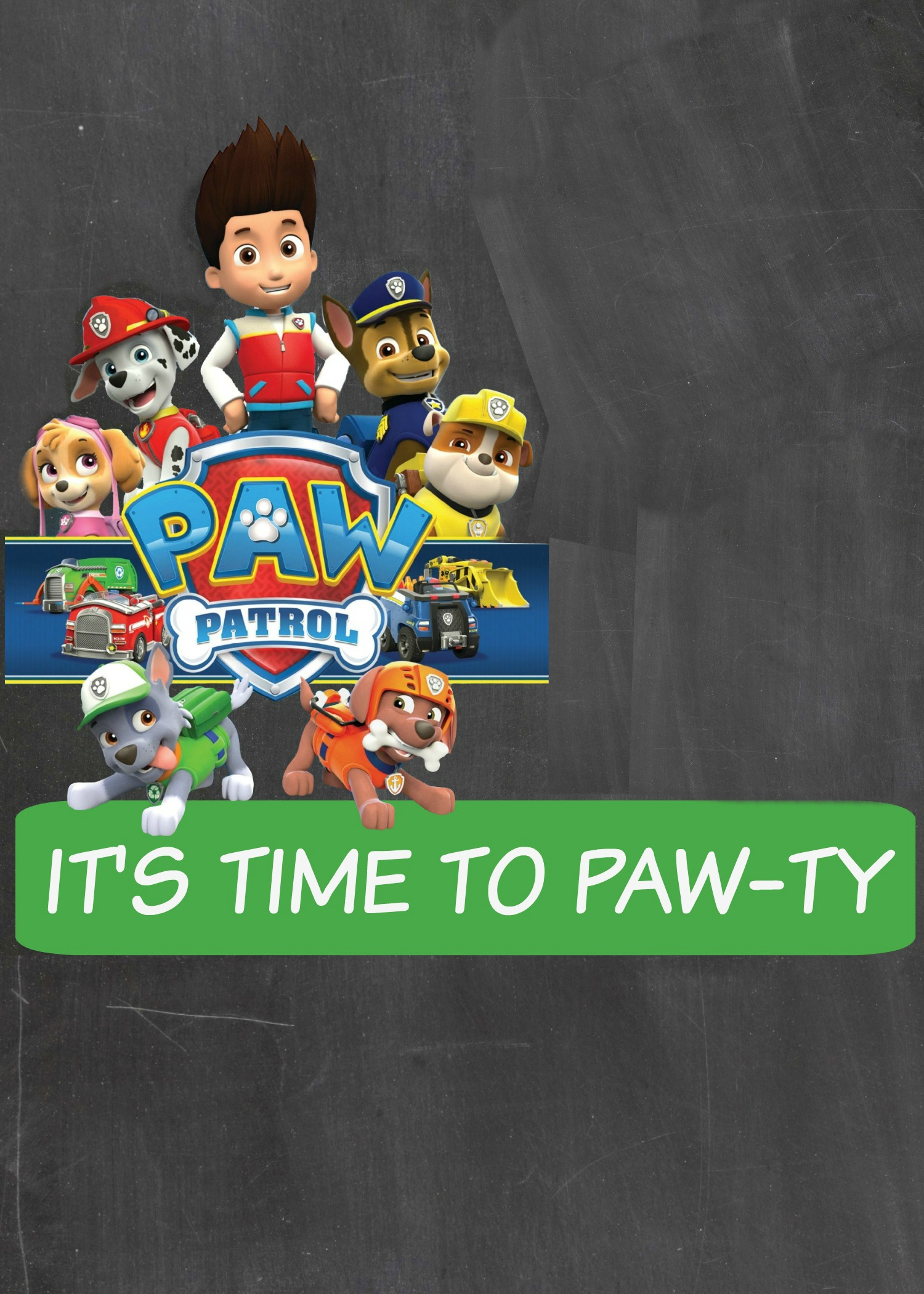 How To Make A Paw Patrol Digital Invitation Includes FREE Clipart - Paw patrol invitation template