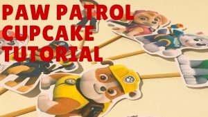 HOW TO MAKE PAWPATROL CUPCAKE TOPPER AND WRAPPER TUTORIAL