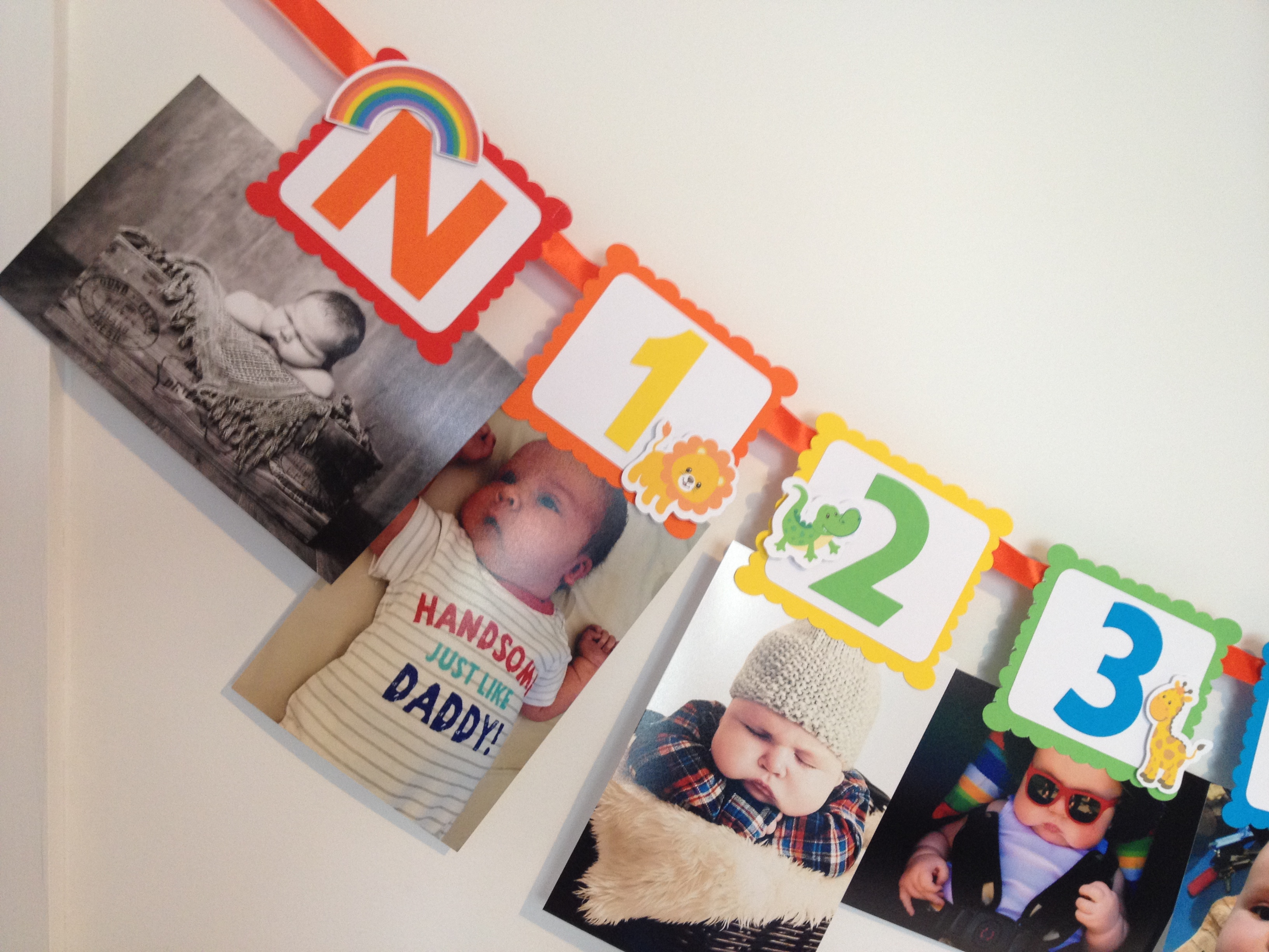 Noahs Ark yearly photo banner for birthday