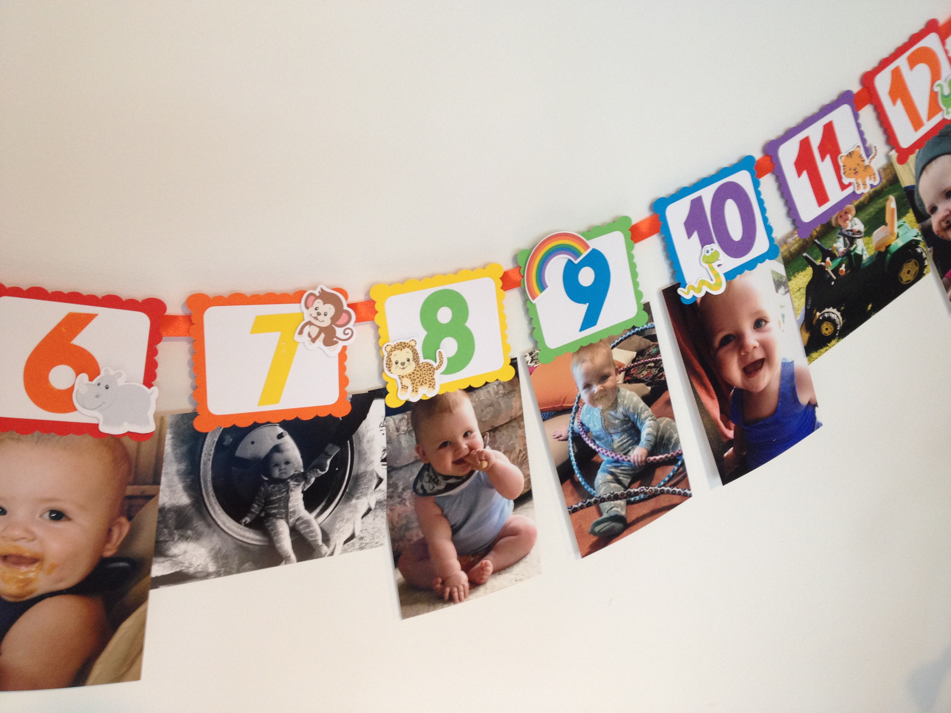 Noahs Ark photo birthday banner