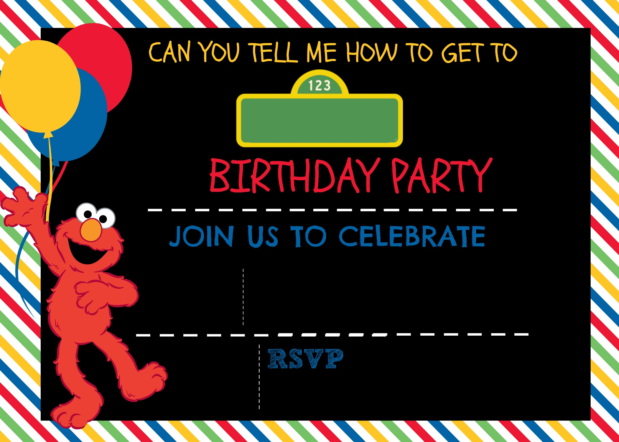 How to make a Sesame Street Digital Invitation Includes FREE