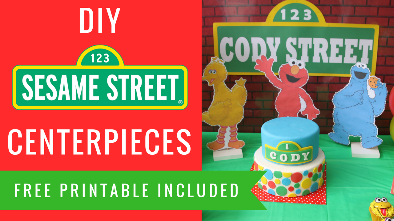 Diy sesame street party decorations centerpieces elmo big bird diy sesame street party decorations centerpieces elmo big bird cookie monster solutioingenieria Image collections