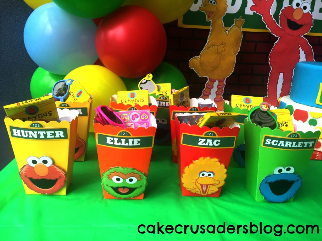 Sesame street party decoration favor boxes