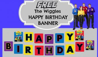 The Wiggles Happy Birthday Banner | How to make with FREE printables