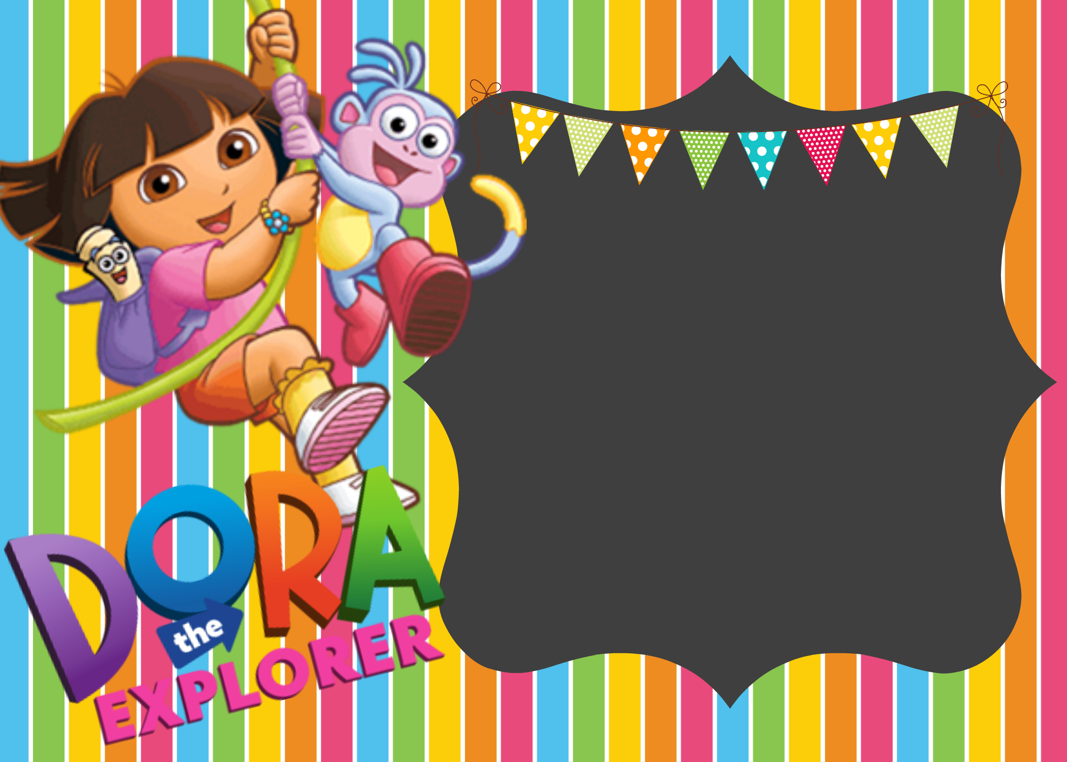 Dora The Explorer Digital Invitations