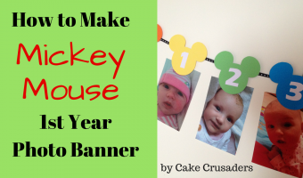 How to make Mickey Mouse 1st year photo banner |  Free printables included