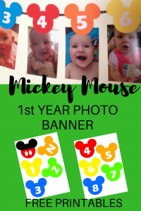 How to Make a MICKEY MOUSE FIRST YEAR PHOTO BANNER PINTEREST