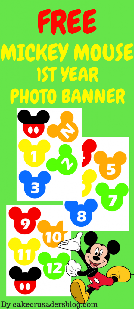 How to make MICKEY MOUSE FIRST 1st YEAR PHOTO BANNER PINTEREST