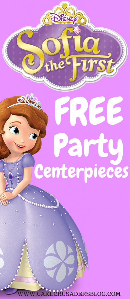 SOFIA THE FIRST CENTERPIECE HOW TO MAKE