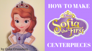 how to make Sofia the first centerpieces youtube video