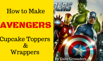 The Avengers Party Setup – Cupcake Toppers & Wrappers