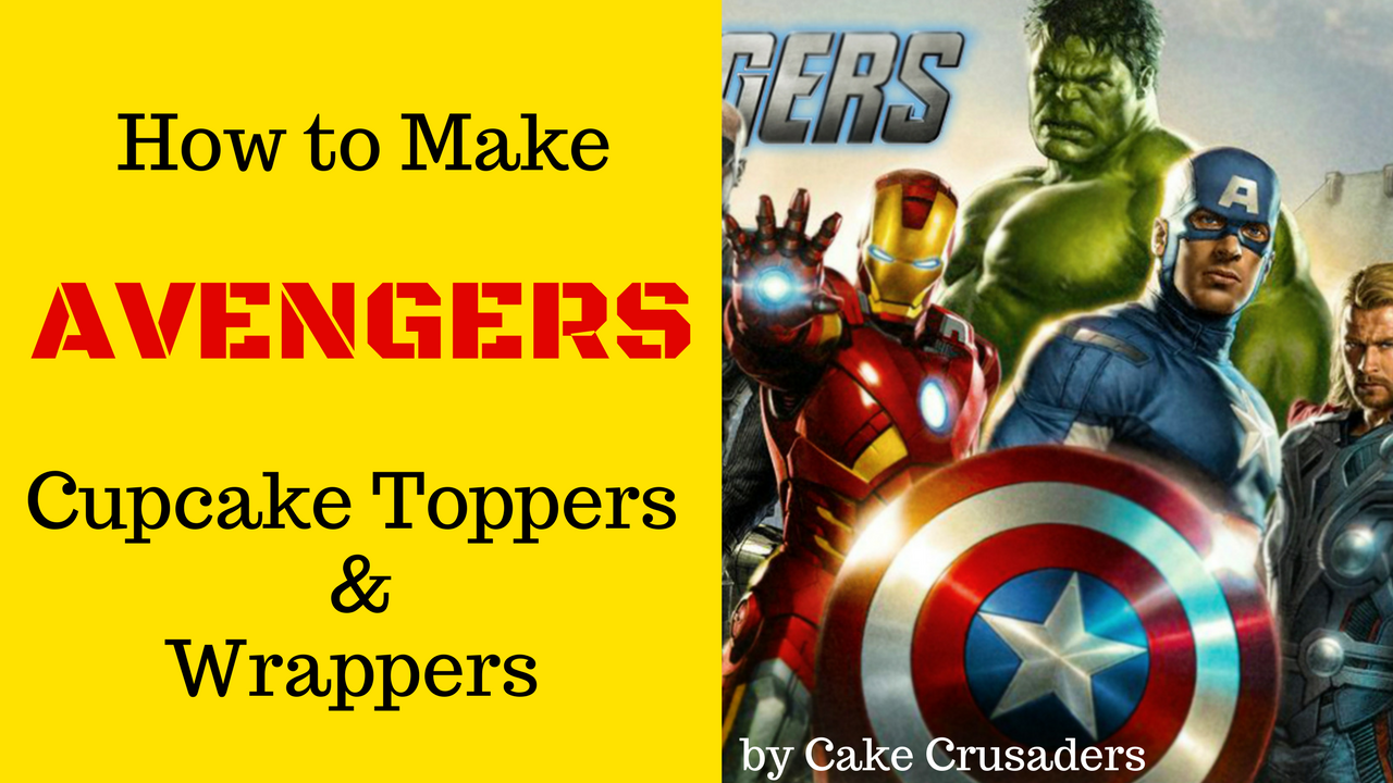 How To Make Avengers Cake Toppers