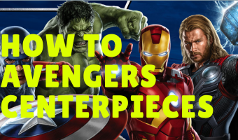 How to make Avengers Party Decorations Centerpieces | FREE printables included