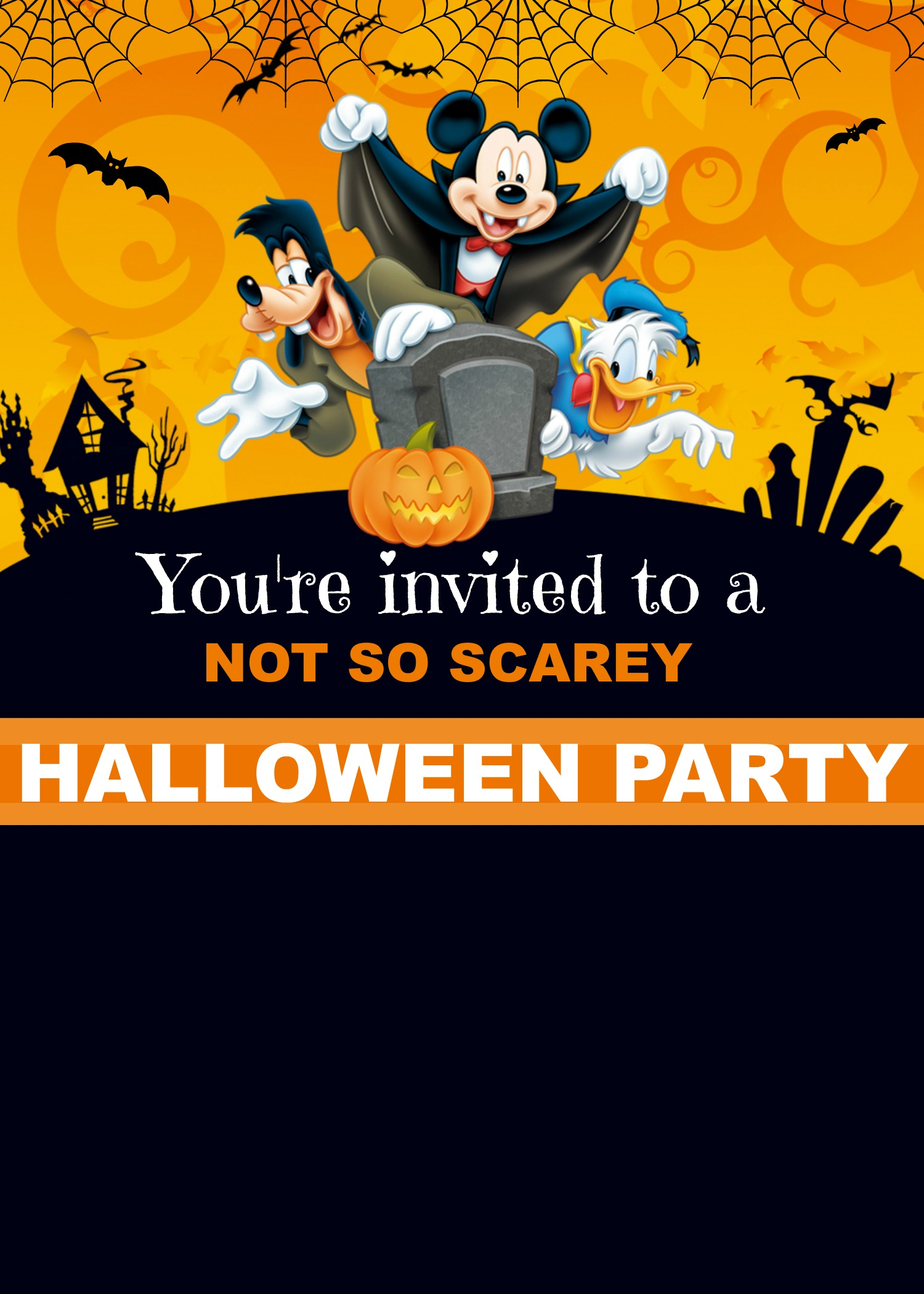 free mickey mouse digital invitation template