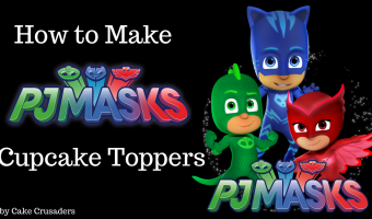 How to make PJ MASK Cupcake Toppers | Free Printables Included