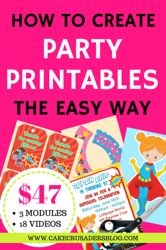 how to make party printables the easy way