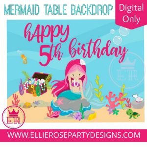 MERMAID TABLE BACKDROP PHOTOBOOTH