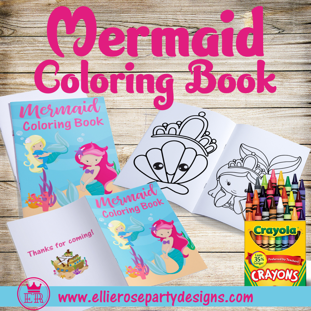 MERMAID COLORING BOOK ACTIVITY BOOK