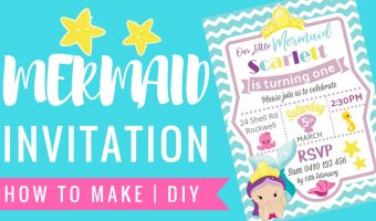Mermaid Under the Sea Invitation | How to with PicMonkey