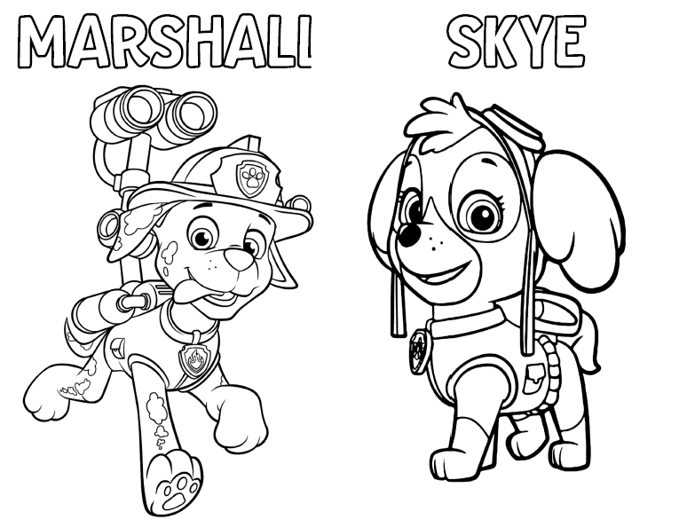 MARSHALL SKYE COLORING PAGES