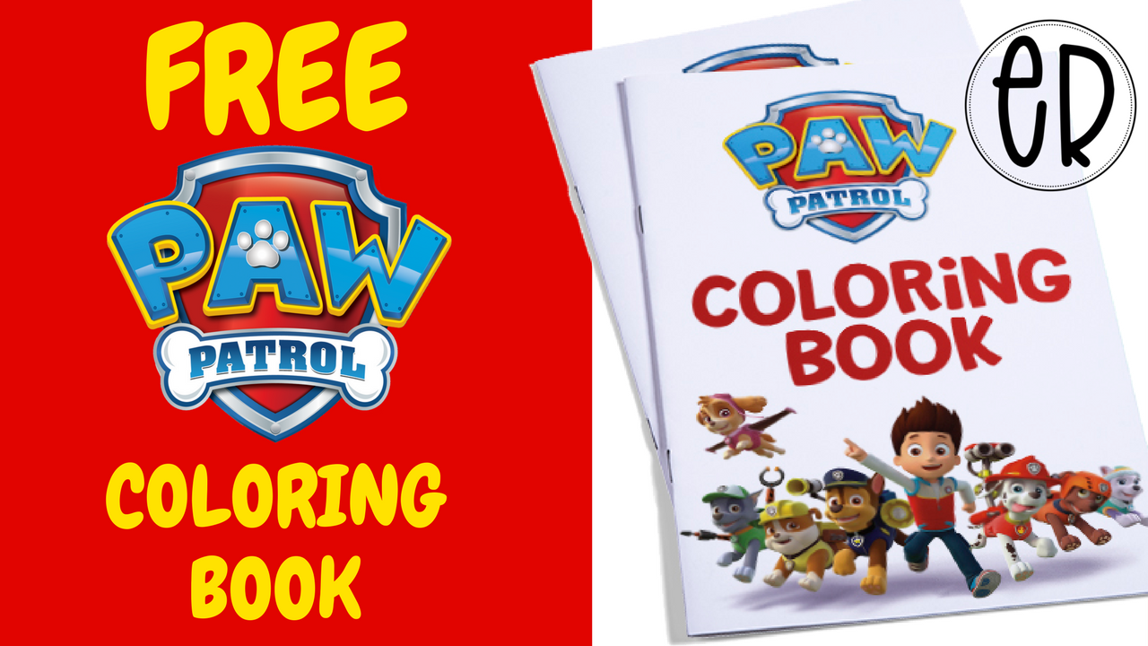 Paw Patrol Coloring Activity Book FREE to use