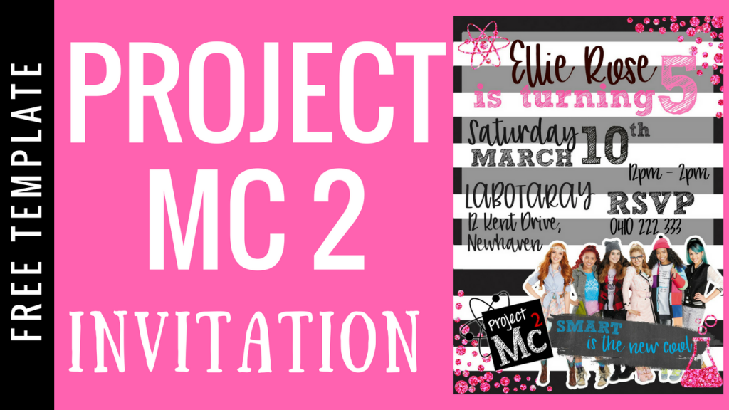 PROJECT MC2 INVITATION HOW TO MAKE