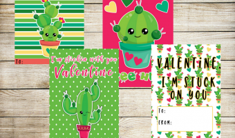 Free Cactus Valentine Cards for Kids
