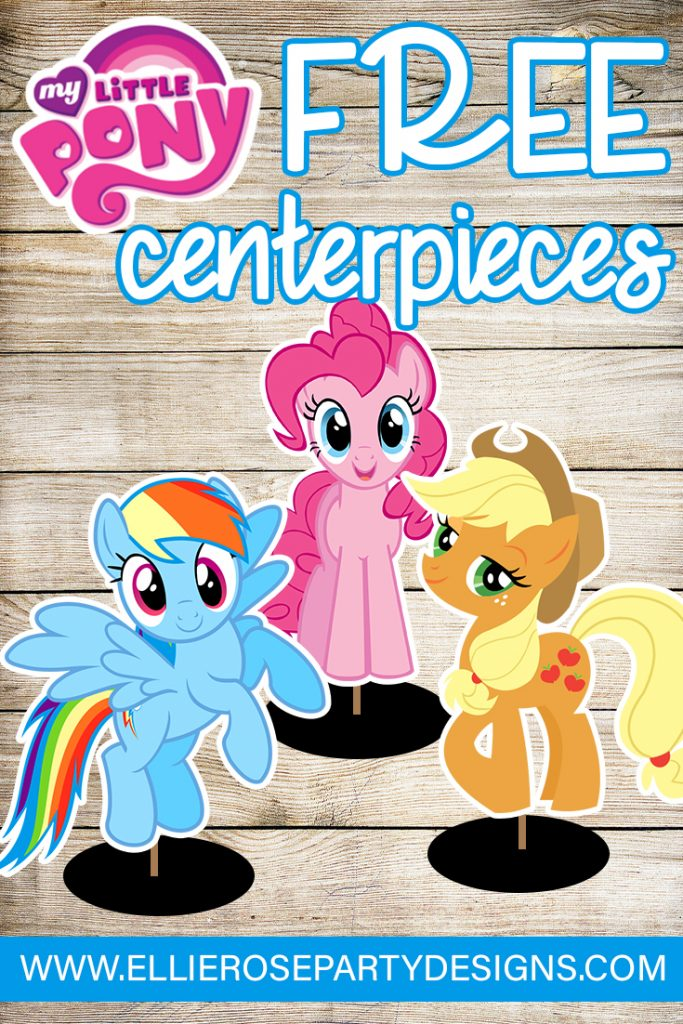 DIY My Little Pony Birthday Ideas MY LITTLE PONY CENTERPIECE TABLE DECORATIONS