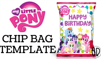 My Little Pony Chip Bag Favor | Free template included