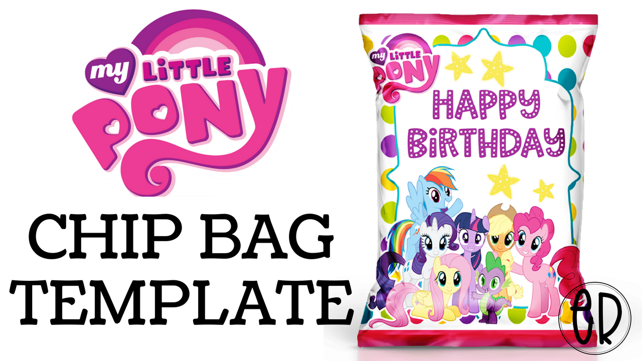 My Little Pony Chip Bag Favor | Free template included ...